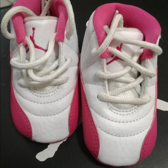 new arrival d3fda 2ac9d Air jordan retro 12 vivid pink infant 2c